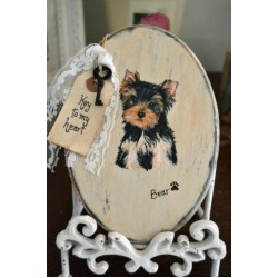 Vintage  Oval Plaque With Your Pet's Likeness