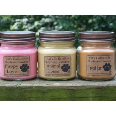 Kat's Collectible Soybean Candles  8 ounce mason jar  SALE!