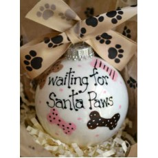 Waiting for Santa Paws Ornament