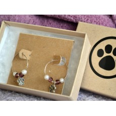 Paw Print Earrings - Small