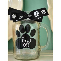 Paws Off Mason Jar
